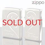【y】ZIPPOペア#200 #1600 ブリリアントハートペア 銀ミラー 【】