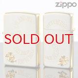 【y】ZIPPOペア#200 #1600 クローバーペア CRPR-SG SGサテーナ メタル貼り 【】