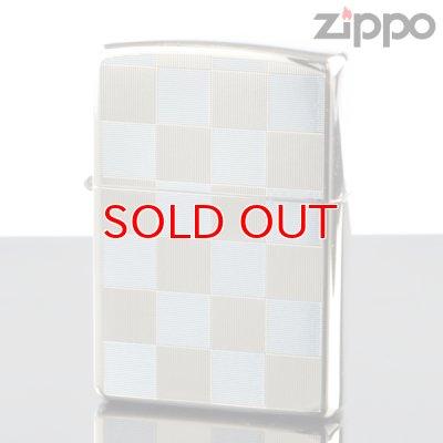 画像1: 【y】 ZIPPO#200 両面加工 20-che-lb チェック柄 21-CHE ライトブルー (10020033) 【】