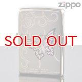 【y】 ZIPPO#200 レインボーバタフライ ニッケルミラー rb1-nm (10020042) 【】