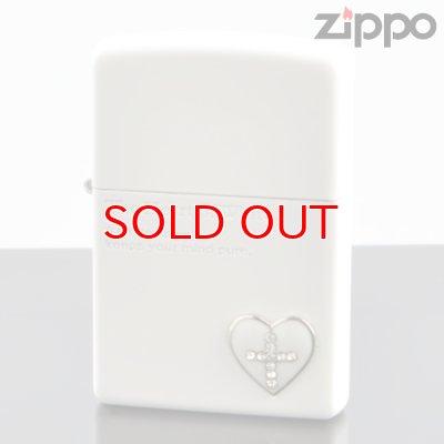 画像1: 【y】 ZIPPO#200 ザ・ハート オブ カラー メタル貼り マットラッカー ホワイト hc-mwh (10020058) 【】