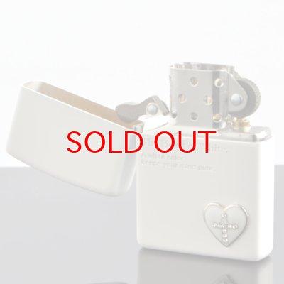 画像2: 【y】 ZIPPO#200 ザ・ハート オブ カラー メタル貼り マットラッカー ホワイト hc-mwh (10020058) 【】