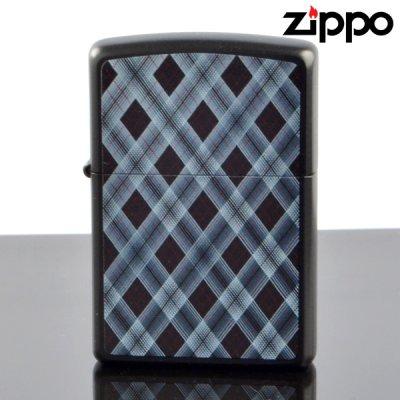 画像1: 【y】 ZIPPO#200 CHECK&CHECK フルカラープリント ラッカーブラックマット ch-mb (10020078) 【】