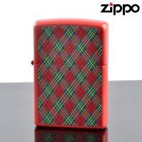 【y】 ZIPPO#200 CHECK&CHECK フルカラープリント ラッカーレッドマット ch-mr (10020080) 【】