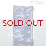 デュポン ライター [Dupont] 10088 ミニ・ジェット(X・tend mini) Minijet ブルー カモフラージュラッカー クロム デュポン ターボライター 【】