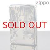 【f】Zippo ジッポライター 1201s387 ZPファイヤーギターSV 両面エッチング【】