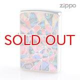 Zippo ジッポライター 1201s636 シェルクリスタル両面加工 1617 RDGR 2016Limited Edition