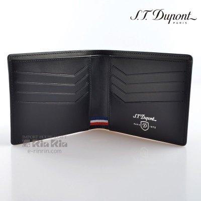 画像2: デュポン革小物 170002 デフィ 二つ折り財布カード8枚 IDホルダー ブラック