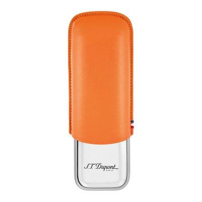 画像1: デュポン シガーケース2本 オレンジ 183012