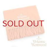 【】Vivienne Westwood ヴィヴィアンマフラー sl5-fm17-0004 シルバーロゴマフラー オレンジ 【】