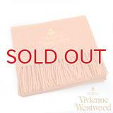 【】Vivienne Westwood ヴィヴィアンマフラー sl4-fm17-0004 同色ロゴマフラー オレンジ 【】
