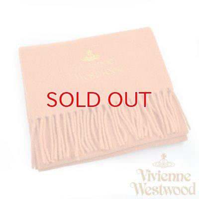 画像1: 【】Vivienne Westwood ヴィヴィアンマフラー sl4-fm17-0004 同色ロゴマフラー オレンジ 【】