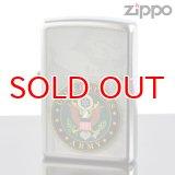 【y】 ZIPPO#200 US Army emblem アメリカ陸軍紋章 ストリートクローム USAオリジナルZIPPO (28632zp) 【】