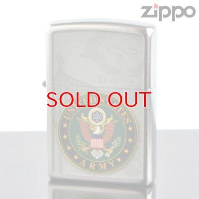 画像1: 【y】 ZIPPO#200 US Army emblem アメリカ陸軍紋章 ストリートクローム USAオリジナルZIPPO (28632zp) 【】