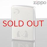 【m】ZIPPO 2cat-2 シルバーサテーナ・エッチング  ( zippo ジッポー ) オイルライター 【】