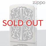 【m】 ZIPPO 2FMJ-CROS フルメタルジャケットジッポー シルバー   (2fmj-cros2) ジッポー ライター 【】