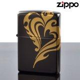【m】Zippo ジッポライター 3d-hart-gd 立体3D ハートGD 3面金メッキ連続盛り上げ加工 【】