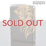 【m】Zippo ジッポライター 3d-tiger-gd 立体3D タイガーGD 3面金メッキ連続盛り上げ加工 【】