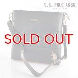 US POLO ASSN 589554 USPA-1904 black サフィアノ ショルダーバッグ