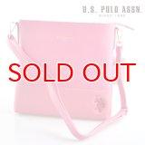US POLO ASSN 589556 USPA-1904 pink サフィアノ ショルダーバッグ