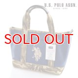 US POLO ASSN 629801 USPA-1862 Navy Beige Camouflage2 コットン トートバッグ
