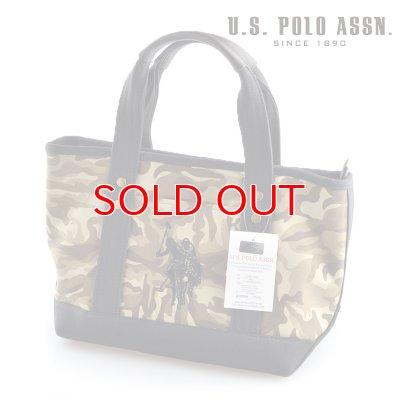 画像1: US POLO ASSN 629805 USPA-1862 Camouflage Black2 コットン トートバッグ