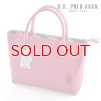 US POLO ASSN 650250 USPA-1905 pink サフィアノ トートバッグ