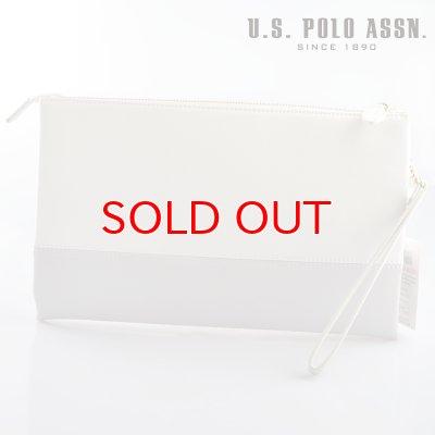画像2: US POLO ASSN 664949 USPA-1903 white light gray サフィアノ クラッチバッグ