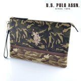 US POLO ASSN 679736 USPA-1872 camouflage Beige camouflage2 ソリッドクラッチバッグ