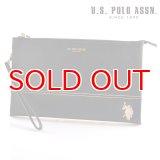 US POLO ASSN 682073 USPA-1903 black サフィアノ クラッチバッグ