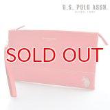 US POLO ASSN 682084 USPA-1903 レッド Red サフィアノ クラッチバッグ