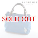 US POLO ASSN 689001 USPA-2602 ライトブルー 2wayサイドZIPバッグ
