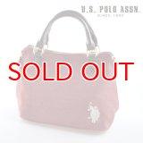 US POLO ASSN 689012 USPA-2602 ラズベリー 2wayサイドZIPバッグ
