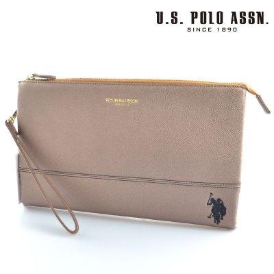 画像1: US POLO ASSN 718193 USPA-1903 ブロンズ Bronze サフィアノ クラッチバッグ