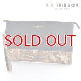 US POLO ASSN 718221 USPA-1903 ブラック ベージュカモフラージュ black Beige Camouflage サフィアノ クラッチバッグ