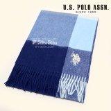US POLO マフラー  男女兼用 17AW ウール100% USPA-2004 745959 BLUE×NAVY