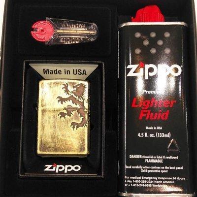 画像1: ZIPPO Bライオン arb-br126 フリントオイルセット