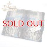 (ヴィヴィアン・ウエストウッド) Vivienne Westwood fp66-0016 ブルー BLUE オーブロゴ入りマフラー 24s11-p66-0016 ヴィヴィアンマフラー