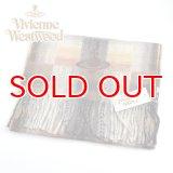(ヴィヴィアン・ウエストウッド) Vivienne Westwood fp66-0020 ブラウン BROWN オーブロゴ入りマフラー 24s11-p66-0020 ヴィヴィアンマフラー