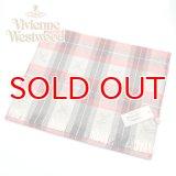 (ヴィヴィアン・ウエストウッド) Vivienne Westwood fp77-0006 チェックレッド RED オーブロゴ入りマフラー 24se0-p77-0006 ヴィヴィアンマフラー