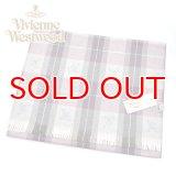 (ヴィヴィアン・ウエストウッド) Vivienne Westwood fp77-0281 チェックプラム PLUM オーブロゴ入りマフラー 24se0-p77-0281 ヴィヴィアンマフラー