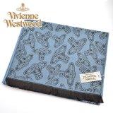 (ヴィヴィアン・ウエストウッド) Vivienne Westwood fp80-0008 アヴィオブルー AVIO オーブロゴ入りマフラー 24s32-p80-0008 ヴィヴィアンマフラー