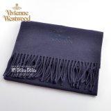 Vivienne Westwood ヴィヴィアンマフラー  m9024c540004 同色ロゴマフラー ダークブルー S60909024  909024 C54 004