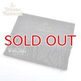 Vivienne Westwood ヴィヴィアンマフラー  m9024c540056 同色ロゴマフラー ダークグレー  S60909024  909024 C54 056