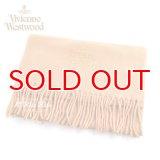 Vivienne Westwood ヴィヴィアンマフラー  m9024c540084 同色ロゴマフラー ベージュ  S60909024  909024 C54 084