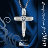【】クロスフォーメン ネックレス NMP-003 Bullet Dancing Stoneシリーズ 男性用ネックレスCrossfor NewYork forMen【】
