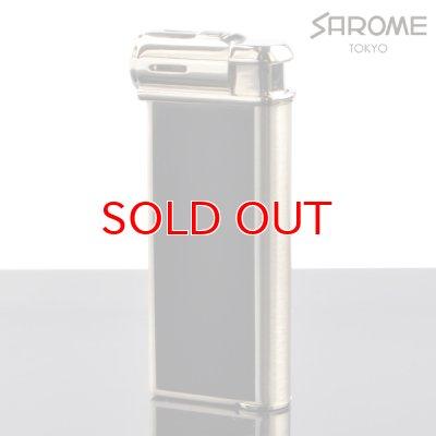画像1: 【】サロメ 電子ライター PSP-15 シルバーサテーナ 黒プリント sarome ブランド ライター psp-15