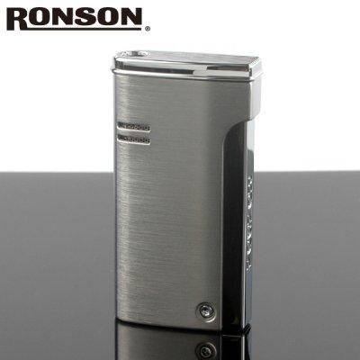 画像1: 【】ロンソン ターボライター [RONSON] r29-0002 クロームサテン( Ronson ロンソン バーナーフレームライター ブランド ライター )ロンジェット【】