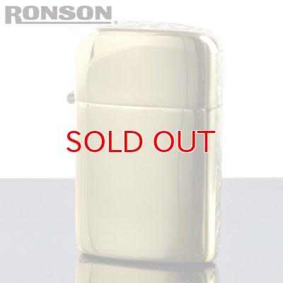 画像1: 【m】 ロンソン タイフーン フリントオイルライター RT-SA2 オリジナルサイドアラベスク 真鍮イブシ エッチング2面加工 【】