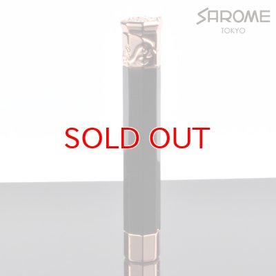 画像1: 【】サロメ 電子ライター SK150-02 ブラック ローズゴールド sarome ブランド ライター sk150-02【】